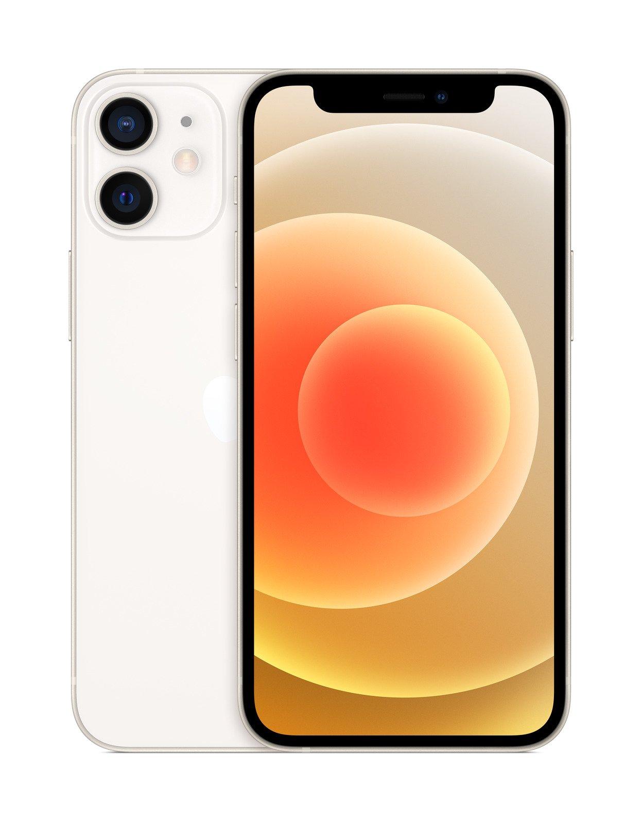 Apple iPhone 12 mini 64GB weis (Super Retina XDR Display, 5G, 4K Videoaufnahme, MGDY3ZD/A) Mobilais Telefons