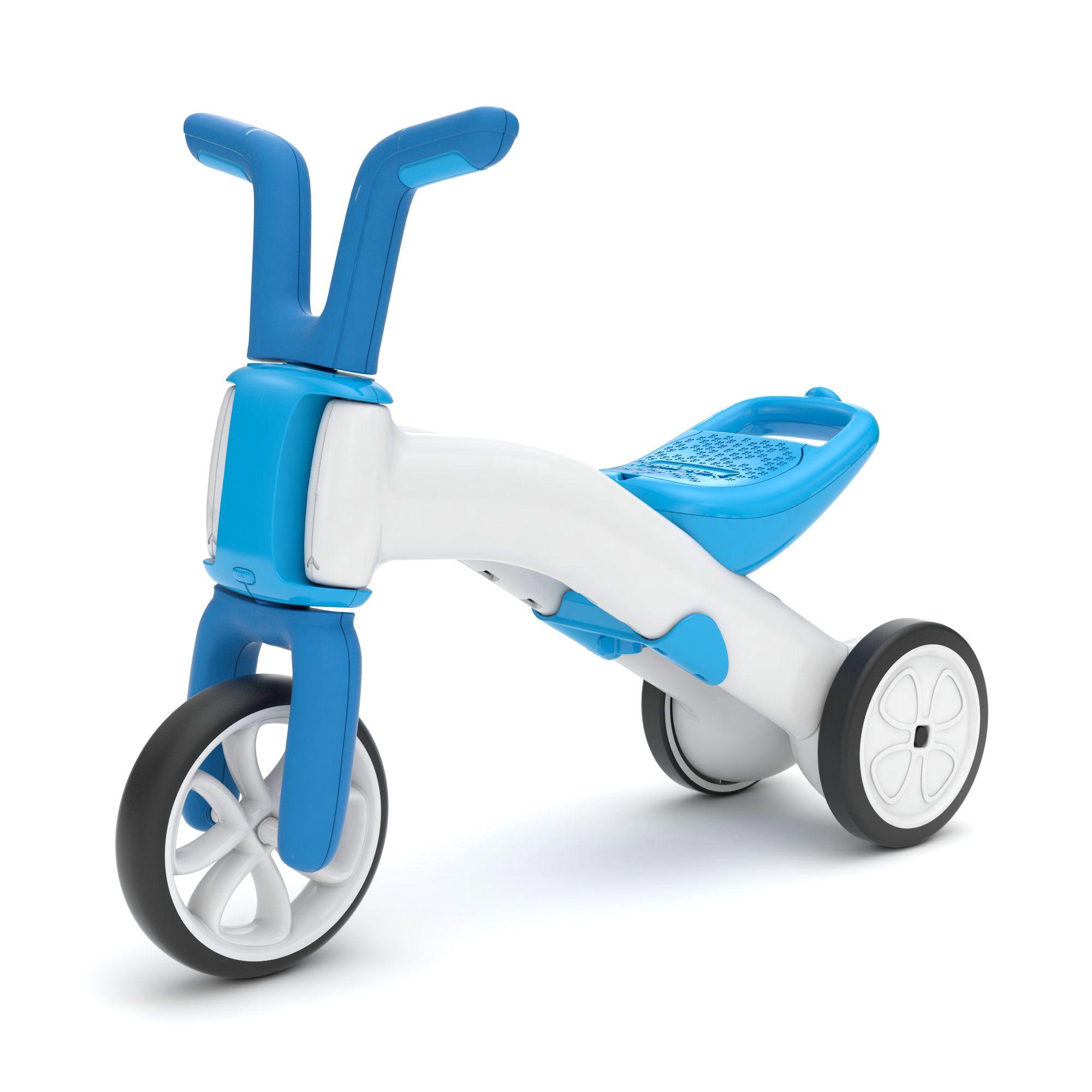 Chillafish Bunzi līdzsvara velosipēds - transformers pašiem mazākajiem 2-in-1, zila, no 1 līdz 3 gadiem CPBN02BLU