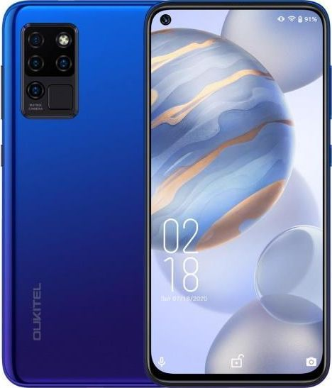 Smartfon Oukitel C21 4/64GB Dual SIM Niebieski  (C21 Blue) C21 Blue Mobilais Telefons