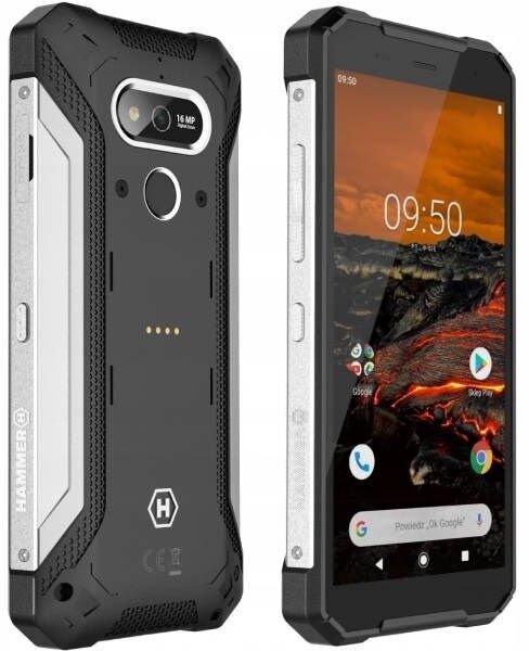 MyPhone Hammer Explorer Pro Dual silver 5902983609384 T-MLX45190 Mobilais Telefons