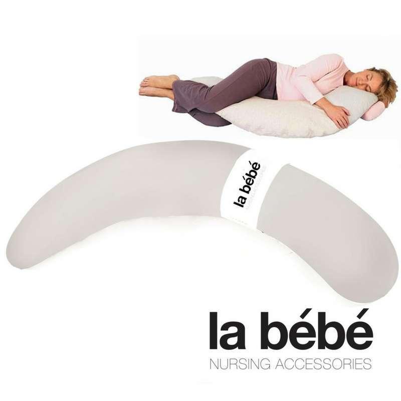 La Bebe™ Moon Maternity Pillow Cover Art.15748 Light Grey Satin Papildus pārvalks pakaviņam 36x185 cm