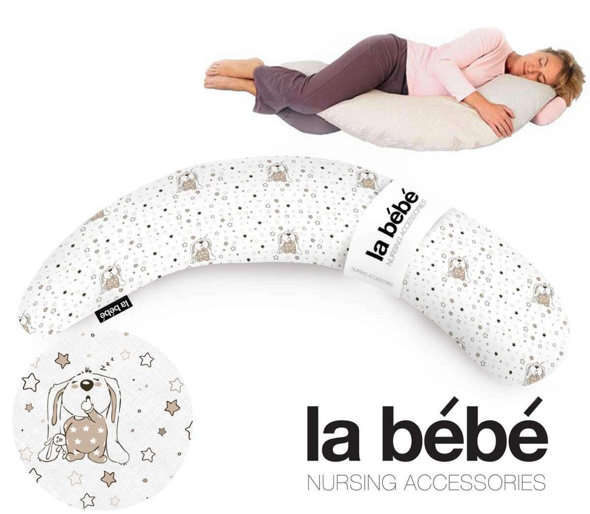 La Bebe™ Moon Maternity Pillow Cover  Art.7789 Bunnies Papildus PĀRVALKS pakaviņam 36*185 cm
