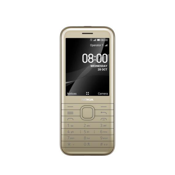 Nokia  8000 4G TA-1305 DS Gold Mobilais Telefons