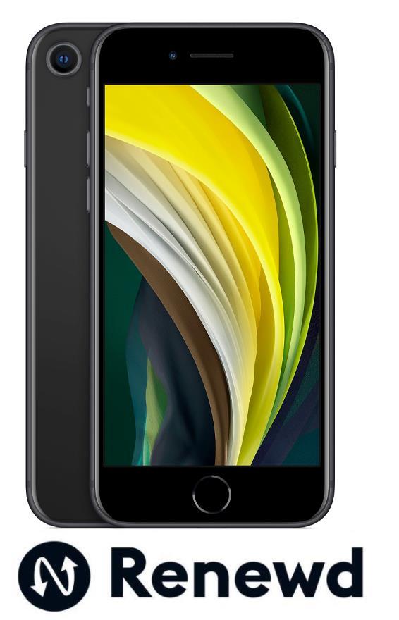 Apple iPhone SE2020 Black 64GB (atj. 24 mēn. garantija) Mobilais Telefons