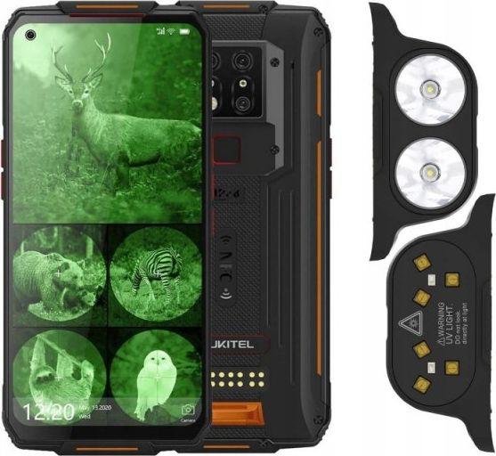 Smartfon Oukitel WP7 + Latarka + Lampa UVC 128 GB Dual SIM Czarno-pomaranczowy  (WP7-OEZESTAW/OL                ) WP7-OEZESTAW/OL Mobilais Telefons