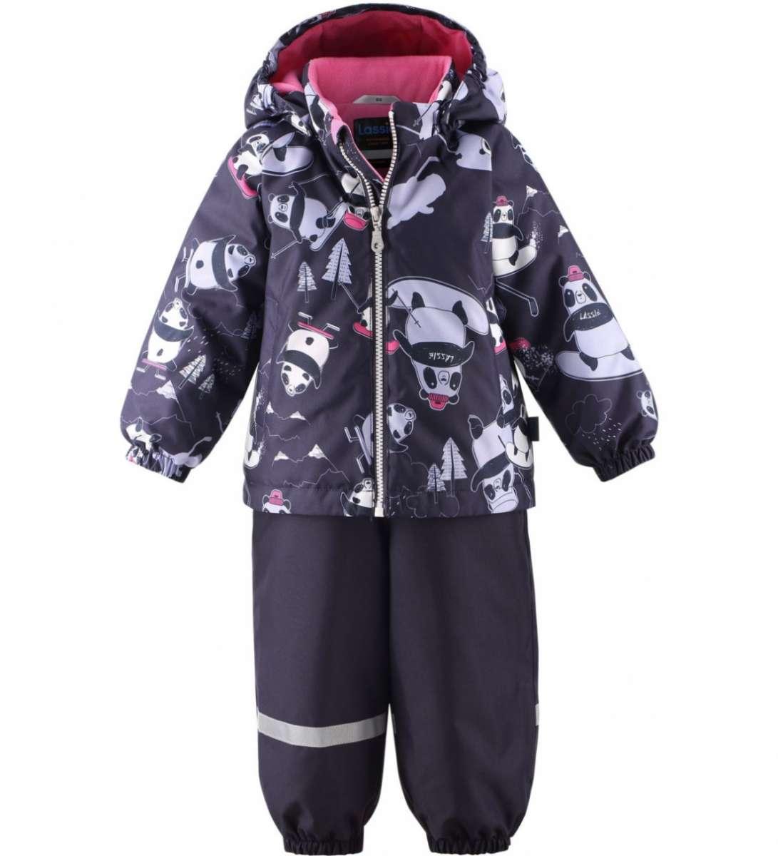 Lassie'21 Lassietec® Oivi Art.713732-4953 Dark Plum Silts mazuļu ziemas kostīms: jaka un bikses