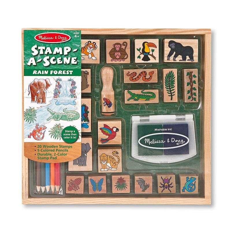 Melissa&Doug Stamp Sets Art.12423 Komplekts zīmogs ar tintēm