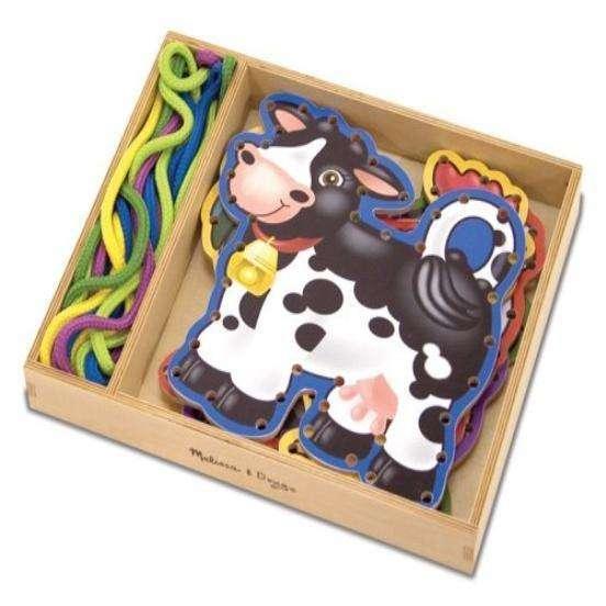 Melissa&Doug Lacing Animals Art.13781 Attīstošā rotaļlieta -Aukliņu vēršana