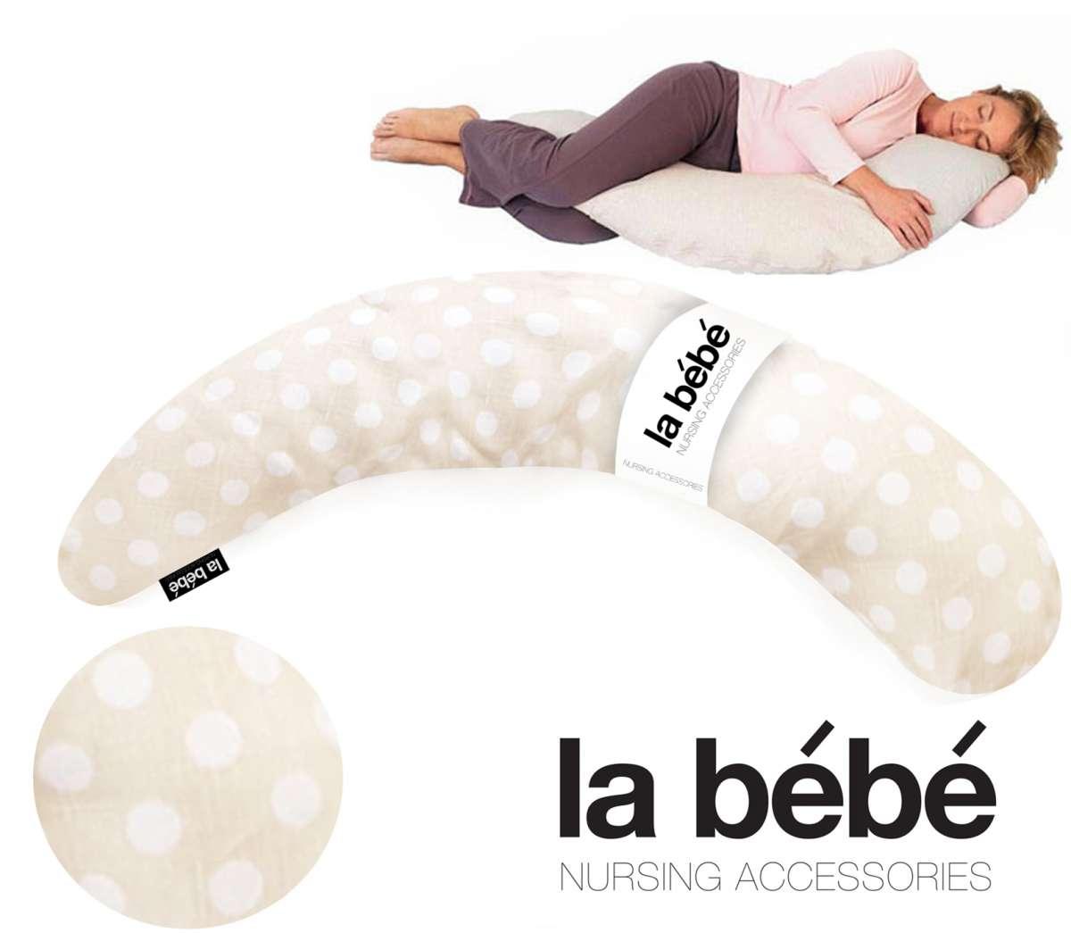 La Bebe™ Moon Maternity Pillow Cover Art.47386 White Dots Papildus PĀRVALKS pakaviņam 36*185 cm