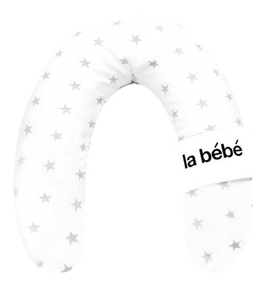 La Bebe™ Rich Cotton Nursing Maternity Pillow Art.81032 White&Grey Stars Pakaviņš (pakavs) mazuļa barošana, gulēšanai, pakaviņš grūtniecēm