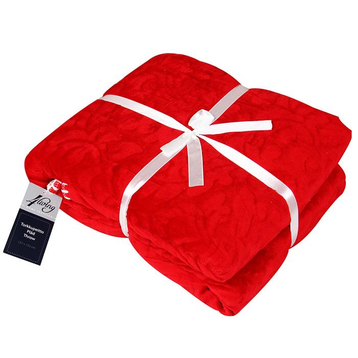 Pleds 4Living Monaco Red 127x152cm 295962 Gultas veļa