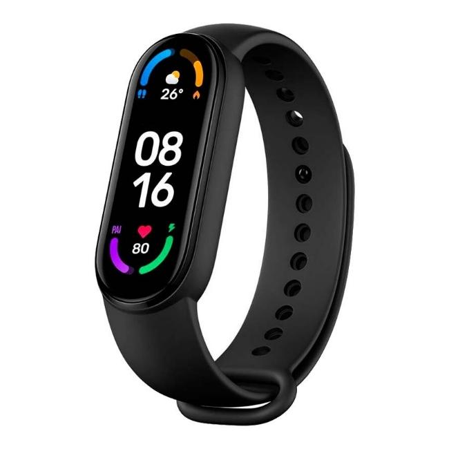 Xiaomi Mi Band 6 Fitnesa Aproce - 2in1 Sirds Monitors un Pulkstenis ar Oled Displeju & Skārienjūtīgu paneli Melns Viedais pulkstenis, smartwatch