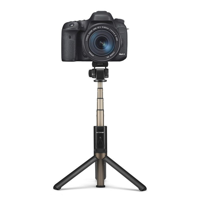 BlitzWolf BW-BS3 2in1 Universāls Selfie Stick + Tripod Statnis ar Bluetooth Tālvadības pulti / Melns Selfie Stick