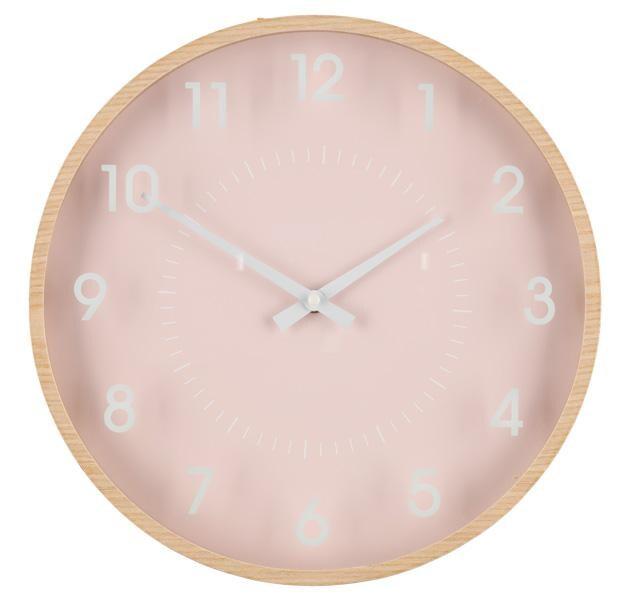 4Living Wall Clock 33 cm - Pink Sienas pulkstenis