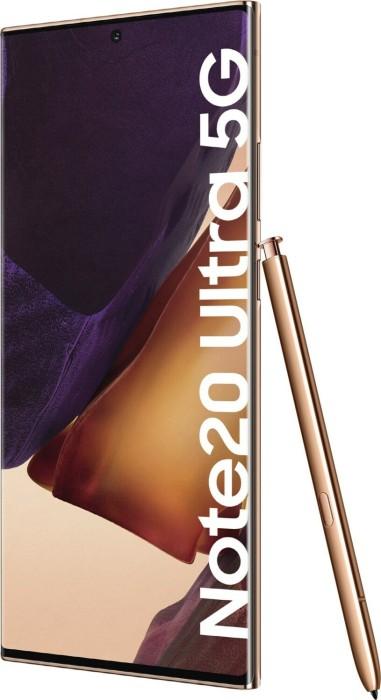 Samsung Galaxy Note20 Ultra 5G - 6.9 - 256GB, Android(Bronze, Dual SIM, 12 GB DDR 5) SM-N986BZNGEUB Mobilais Telefons