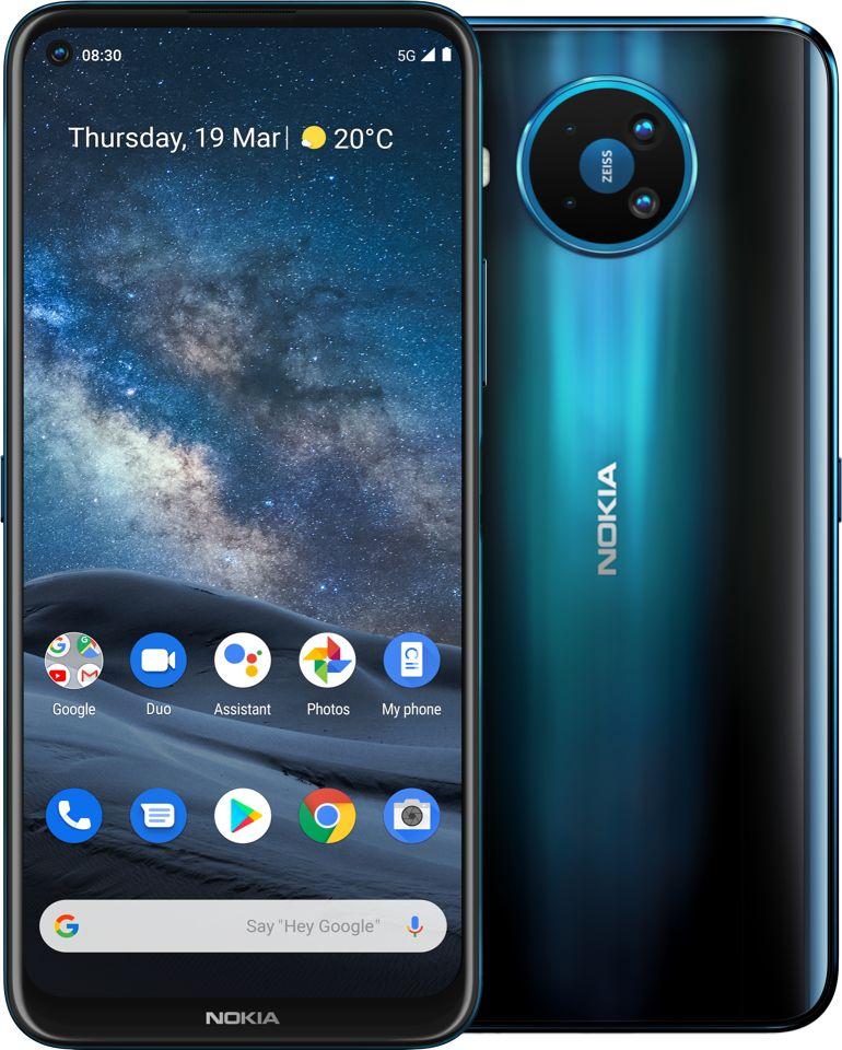 Smartfon Nokia 8.3 5G 6/64GB Dual SIM Niebieski  (64384090500070) 64384090500070 Mobilais Telefons