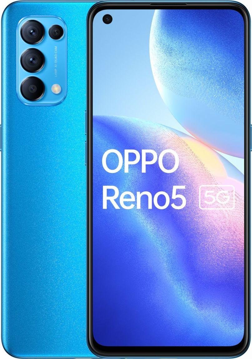 Smartfon Oppo Reno5 5G 8/128GB Dual SIM Niebieski  (CPH2145NB) CPH2145NB Mobilais Telefons