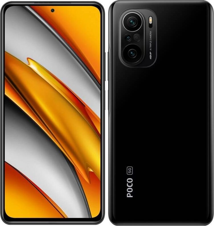 Smartfon Xiaomi POCO F3 5G 6/128GB Dual SIM Czarny  (XIA-SM-000473) XIA-SM-000473 Mobilais Telefons