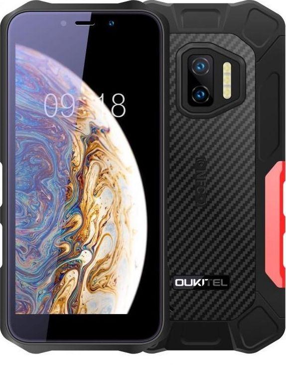Smartfon Oukitel WP12 4/32GB Dual SIM Czarno-czerwony  (WP12 Red) WP12 Red Mobilais Telefons