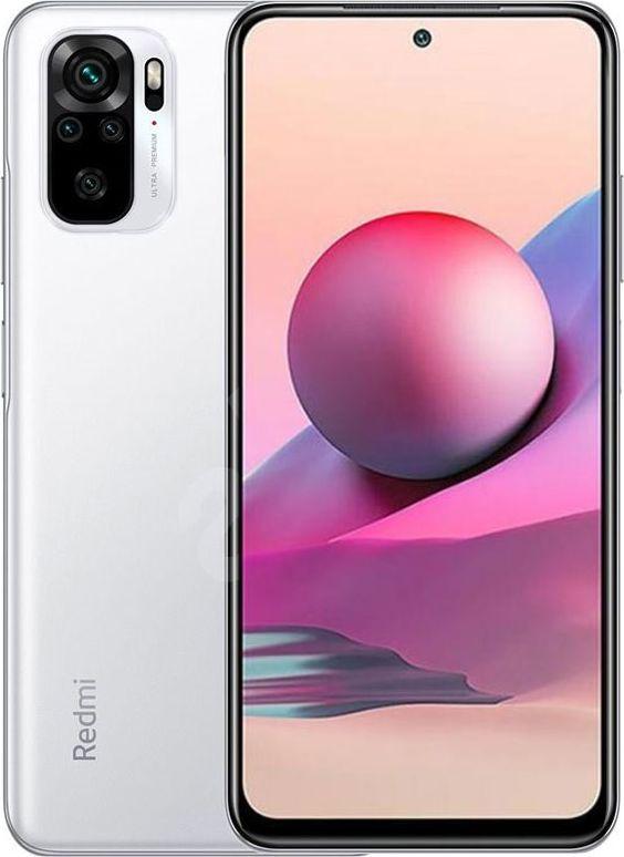 Smartfon Xiaomi Redmi Note 10S 6/128GB Dual SIM Bialy  (33428) 33428 Mobilais Telefons