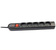 Tracer 30407 PowerGuard + 3m Black (5 sockets) elektrības pagarinātājs