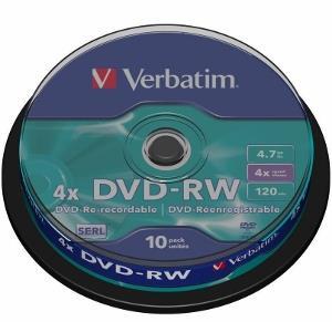 Verbatim  DVD-RW [ 10pcs, 4.7GB, 4x, spindle ] matricas