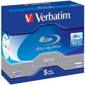 BluRay BD-R Verbatim [ jewel case 5 | 25GB | 6x | Scratchguard Plus ] matricas