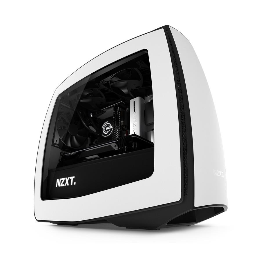 NZXT computer case Manta White/Black with window Datora korpuss