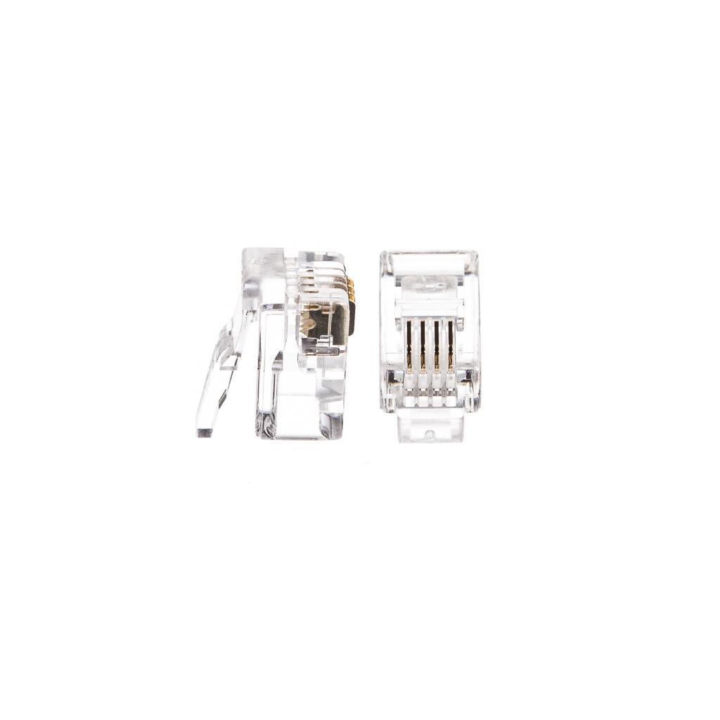 Netrack telephone plug RJ9/RJ10, 4p4c (100 pcs.) Serveru aksesuāri