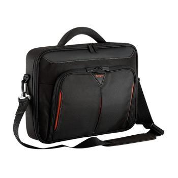 Targus 15 - 15.6 inch / 38.1 - 39.6cm Classic+ Clamshell Case, black and red portatīvo datoru soma, apvalks