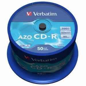Verbatim CD-R 80/700MB 52X 50pack AZO CRYSTAL cake box - 433 matricas