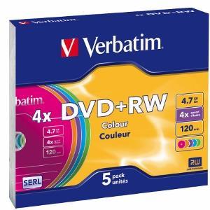 Verbatim DVD+RW/5/Slim 4.7GB 4x 43297 matricas