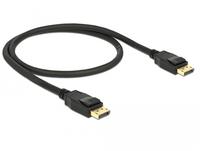 DeLOCK Display Port (M) to Display Port (M) - Display Port 1,2a - 50cm - 4K Support - black (85506) kabelis, vads