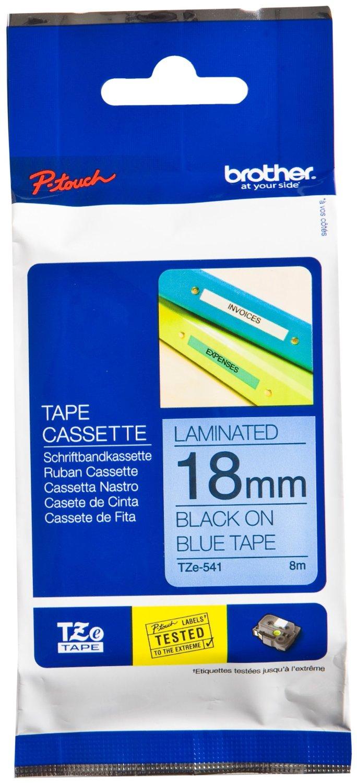 Tape Brother 18mm BLACK ON BLUE biroja tehnikas aksesuāri