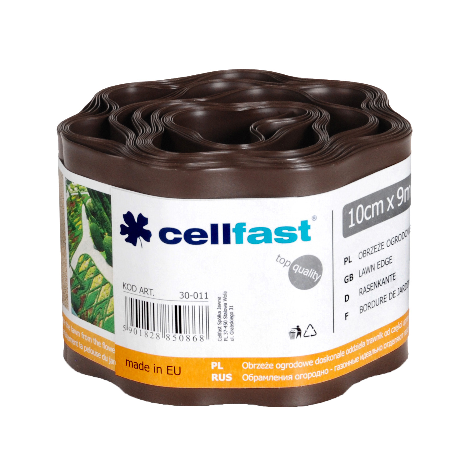 Cellfast Garden edging, brown 10cm x 9m (30-011)