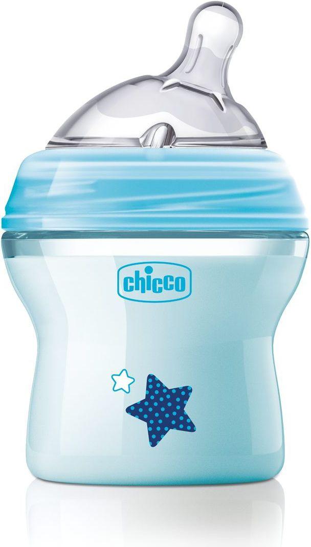 Chicco Butelka plastikowa NaturalFeeling Blue 0M+ 150ml CC 00080811210000 aksesuāri bērniem