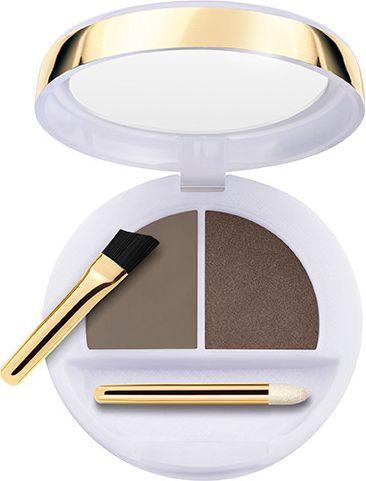 Collistar Flawless Eyebrows Modeling Wax + Colored Powder modeling wax and eyebrow shadows 3 Mora ēnas