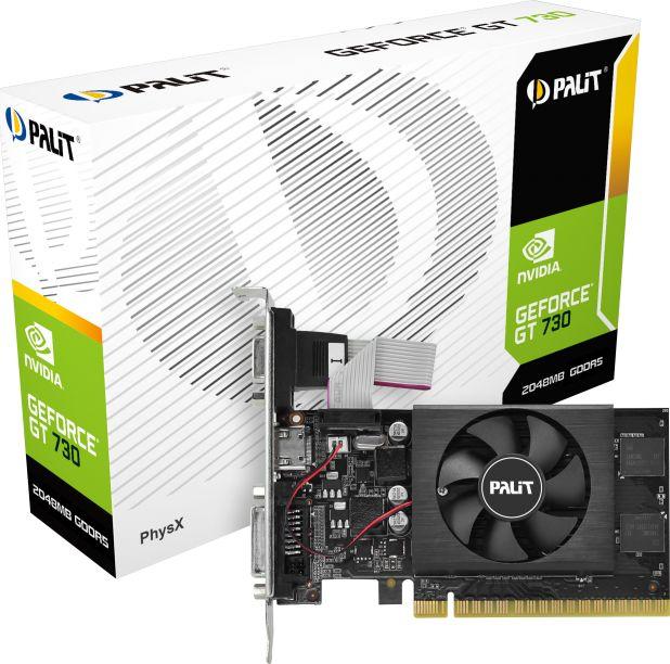 GeForce GT730 2GB DDR5 64Bit DVI/HDMI/DSub BOX video karte