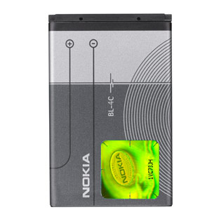NOKIA BL-4C Original Battery for X2 6300 Li-Ion 860mAh (M-S akumulators, baterija mobilajam telefonam