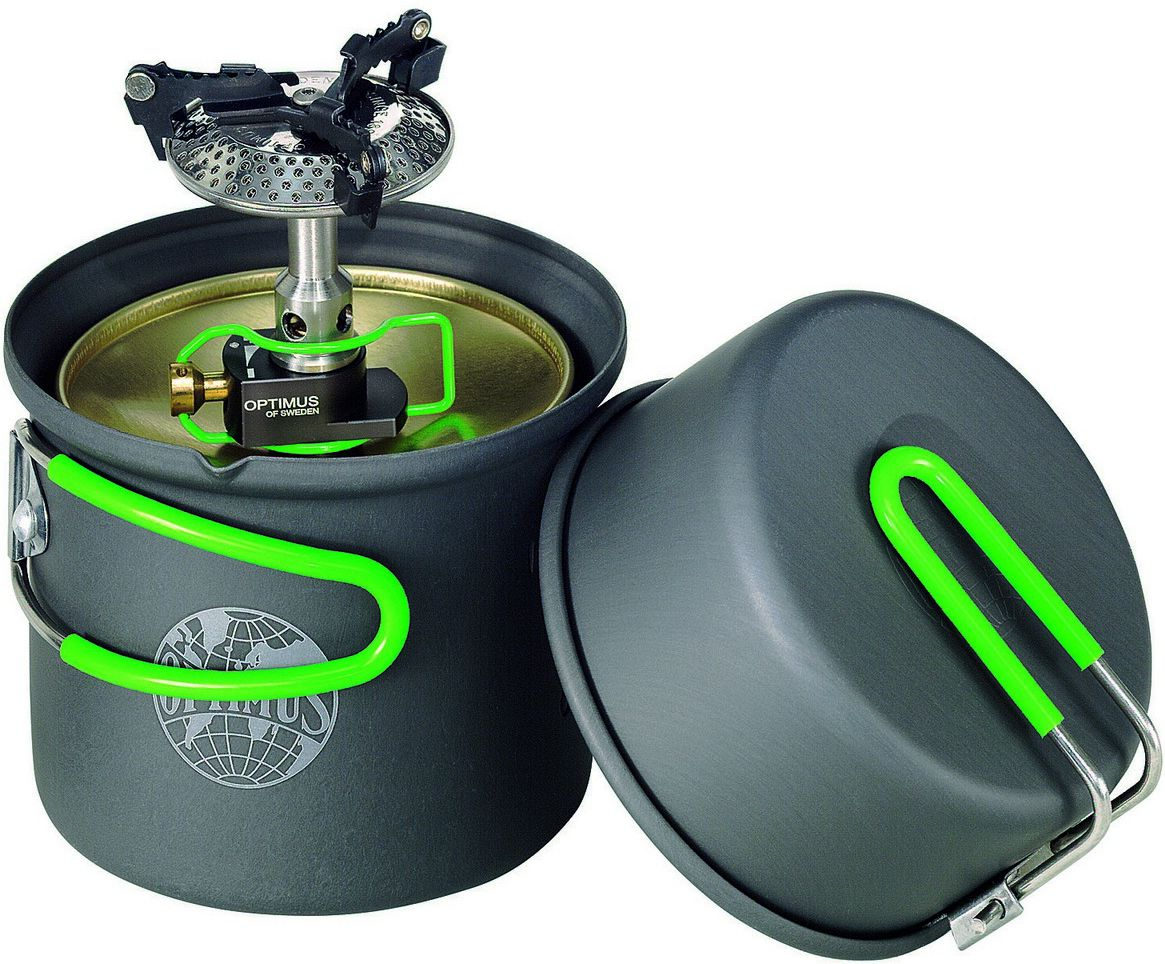 Optimus Set Burner and dishes Crux Lite / Terra Solo Cookset black and green (8019749)