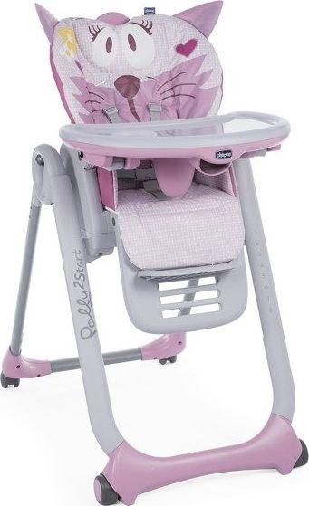 Chicco Krzeselko do karmienia Polly 2 Start Miss Pink 5079205810000 bērnu barošanas krēsls