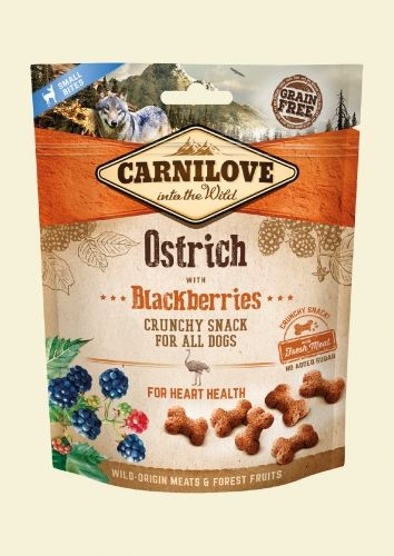 CARNILOVE Przysmak Dog Snack Fresh Crunchy Ostrich+Blackberries 200g