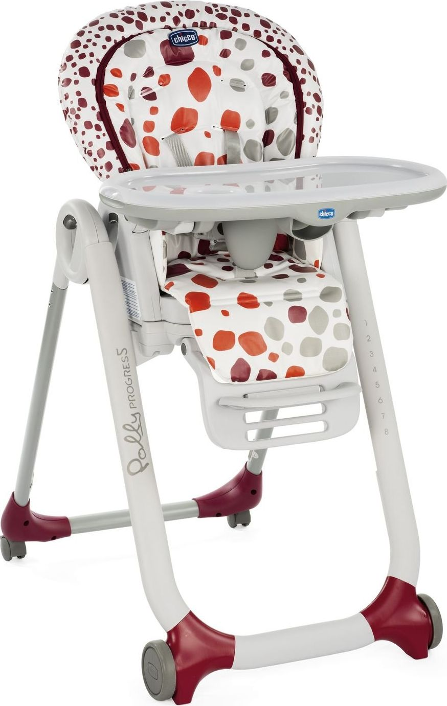 Chicco Krzeselko Polly Progres5 4 Kolka Cherry GXP-685390 bērnu barošanas krēsls
