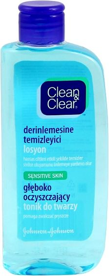 Clean & Clear Deeply cleansing face toner for sensitive skin 200ml