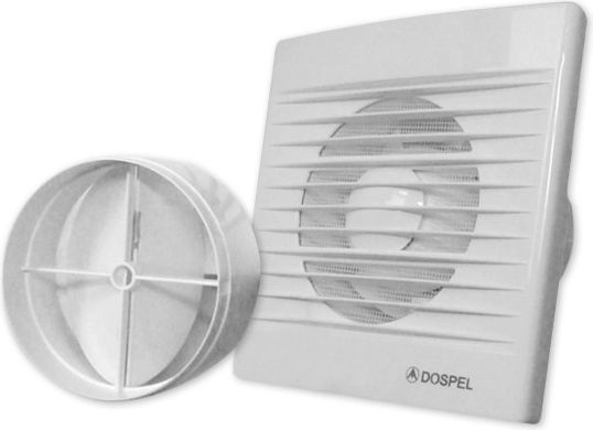 Dospel Style 100 WP-P wall fan with a damper (WD-007-0002P)