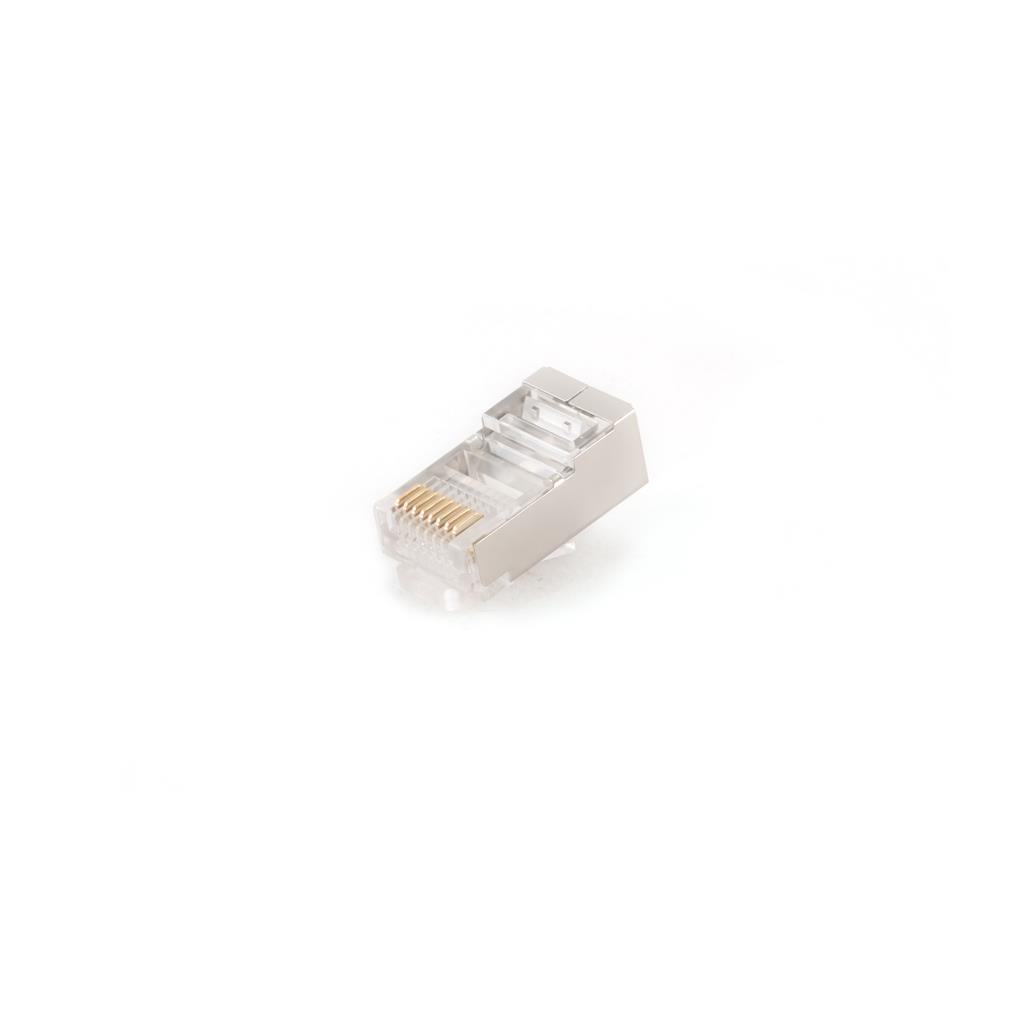 Gembird shielded modular LAN plug 30u'' gold plated - set of 50 pcs.