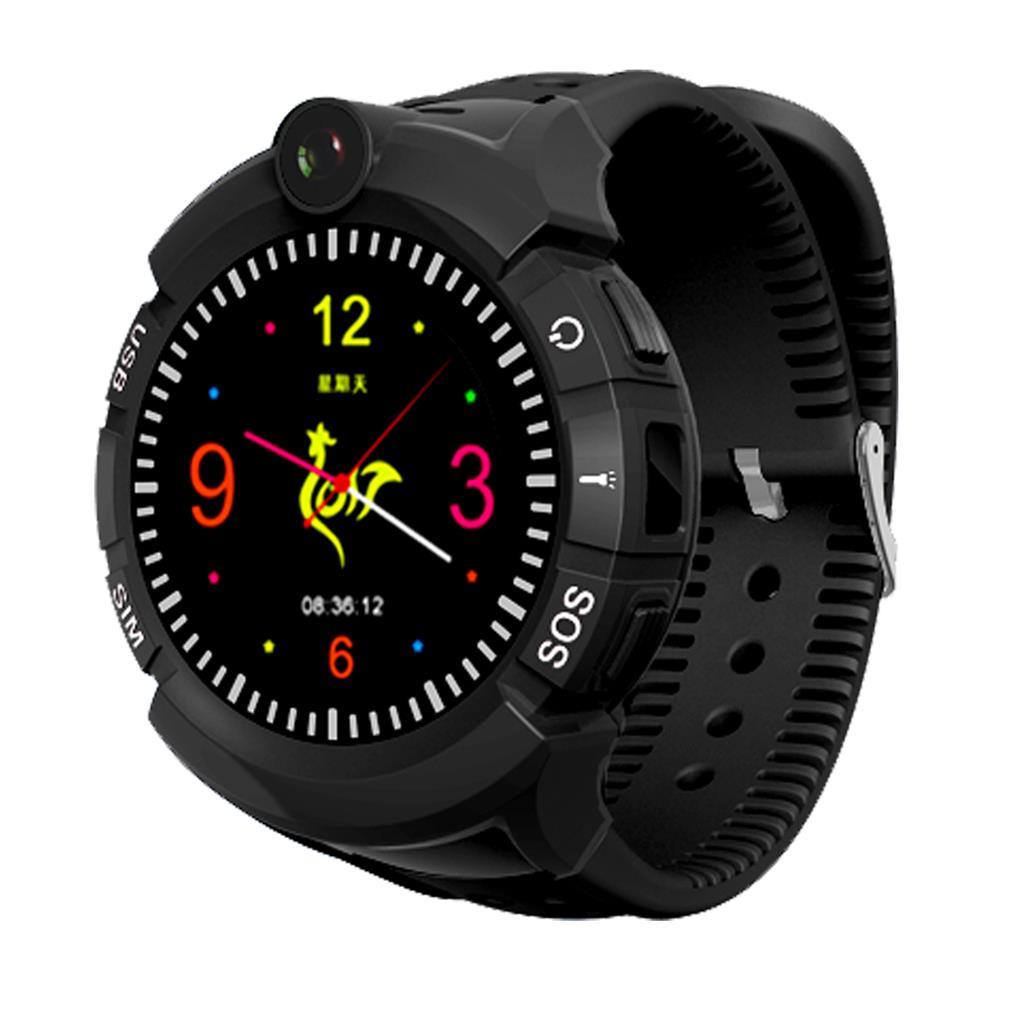 Watch Phone Kids with GPS/WIFI locator black Viedais pulkstenis, smartwatch