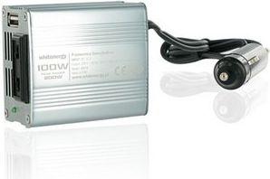 Whitenergy Power Inverter DC/AC from 12V DC to 230V AC 100W, USB, mini portatīvo datoru lādētājs