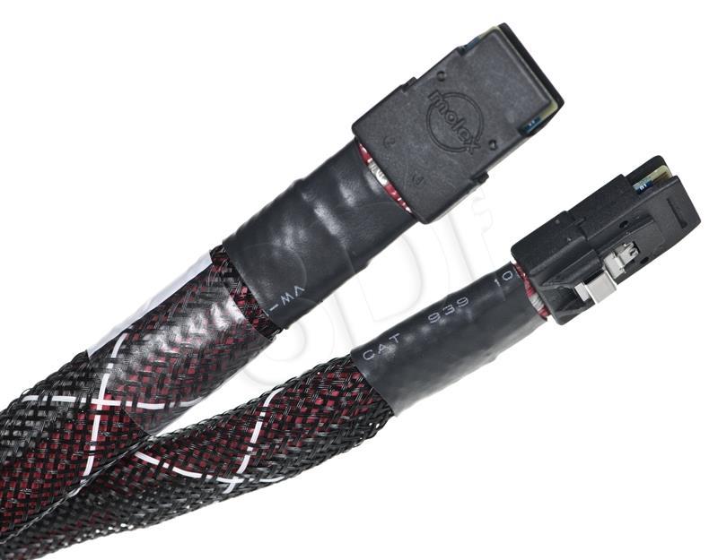 LSI Kabel CBL-SFF8087SB-08M  Mini-SAS zu Mini-SAS 0,8m int matricas