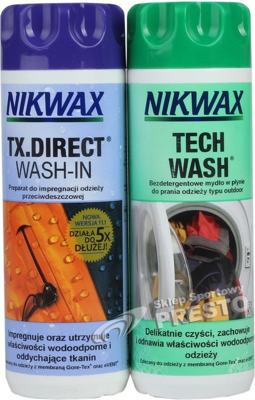 Nikwax Set for the care of clothing and outdoor equipment Tech Wash / TX.Direct (NI-32)